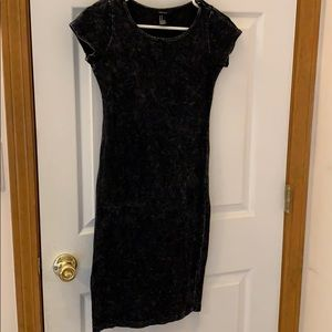 Forever21 Charcoal thin short sleeve dress